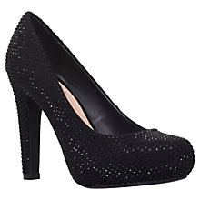 Buy Miss KG Annie Court Shoes, Black Diamante Online at johnlewis.com
