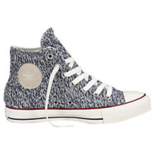 Buy Converse Chuck Taylor All Star Hi-Top Fabric Trainers, Navy Online at johnlewis.com