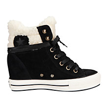 Buy Converse Chuck Taylor All Stars Platform Hi-Top Suede Trainers, Black Online at johnlewis.com