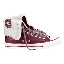 Buy Converse Chuck Taylor All Stars Oxhearth Hi-Top Leather Trainers, Oxblood Online at johnlewis.com