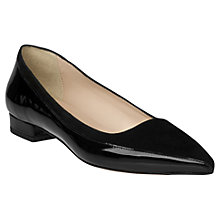 Buy L.K. Bennett Agatha Leather Pointed Pumps, Black Online at johnlewis.com