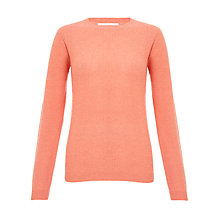 Buy Collection WEEKEND by John Lewis Honeycomb Cashmere Crew Neck Jumper, Shell Pink Online at johnlewis.com