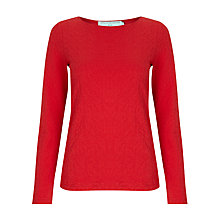 Buy John Lewis Capsule Collection Floral Texture Top, Red Online at johnlewis.com