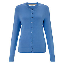 Buy John Lewis Crew Neck Cardigan, Regatta Blue Online at johnlewis.com