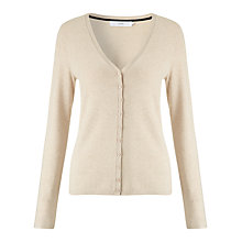 Buy John Lewis V-Neck Mini Button Cardigan, Natural Marl Online at johnlewis.com