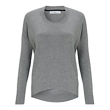 Buy John Lewis Scoop Neck Jumper, Silver Grey Online at johnlewis.com