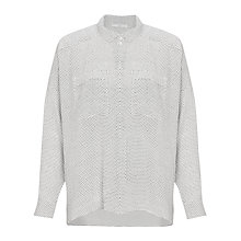 Buy John Lewis Capsule Collection Dot Print Blouse, Cream/Black Online at johnlewis.com