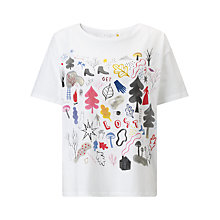 Buy Collection WEEKEND by John Lewis RCA Forest Print T-Shirt, White Online at johnlewis.com