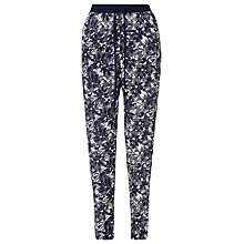 Buy Collection WEEKEND by John Lewis Japanese Floral Print Trousers, Blue Online at johnlewis.com