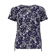 Buy Collection WEEKEND by John Lewis Japanese Floral Print Shell Top, Blue Online at johnlewis.com