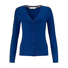 Buy John Lewis V-Neck Mini Button Cardigan, True Blue Online at johnlewis.com
