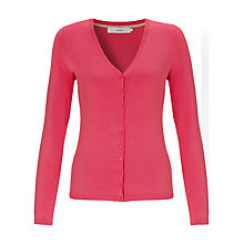 Buy John Lewis V-Neck Mini Button Cardigan, Honeysuckle Pink Online at johnlewis.com