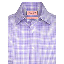 Buy Thomas Pink XL Sleeves Lancaster Check Shirt, White/Purple Online at johnlewis.com