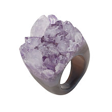 Buy Decadorn Amethyst Drusy Ring, Purple Online at johnlewis.com