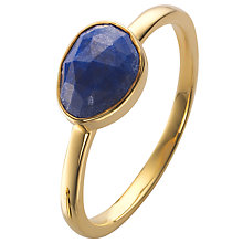 Buy John Lewis Gemstones Gold Plated Lapis Small Ring Online at johnlewis.com