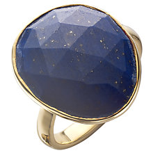 Buy John Lewis Gemstones Gold Plated Lapis Stone Ring Online at johnlewis.com