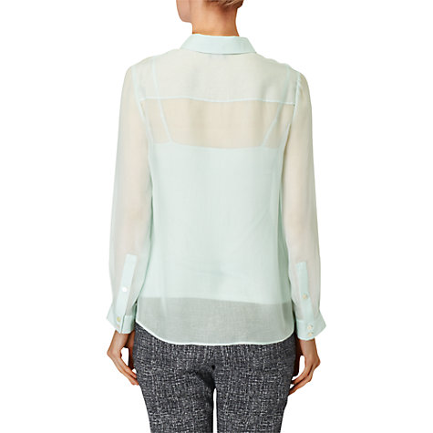 Buy Phase Eight Chiara Silk Blouse, Menthe Online at johnlewis.com