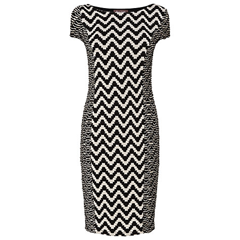 Buy Phase Eight Delta Shift Dress, Black/Cream Online at johnlewis.com