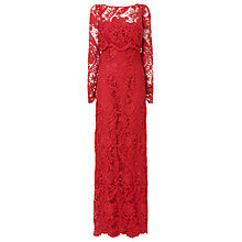 Buy Phase Eight Collection 8 Adrianna Lace Maxi Dress, Ruby Online at johnlewis.com