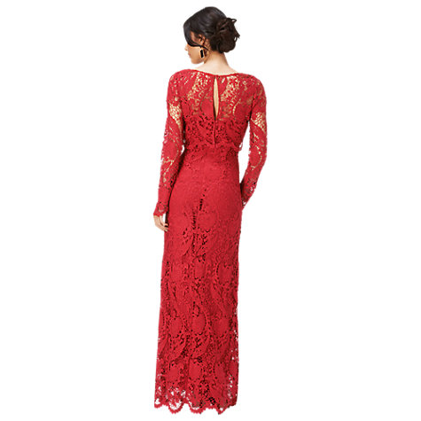 Buy Phase Eight Adrianna Lace Maxi Dress, Ruby Online at johnlewis.com