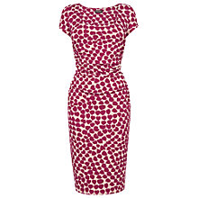 Buy Phase Eight Desiree Printed Jersey Dress, Stone/Raspberry Online at johnlewis.com