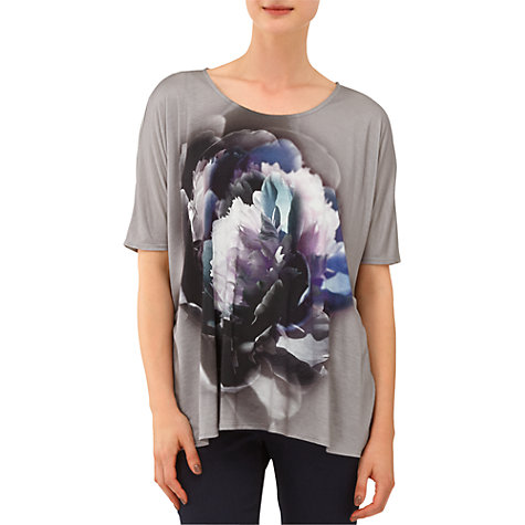 Buy Phase Eight Beth Floral Top, Grey Online at johnlewis.com