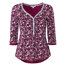 Buy White Stuff Go Gouache Jersey Top, Magenta Online at johnlewis.com