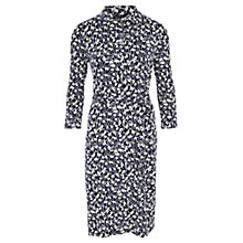 Buy Viyella Fan Print Collar Dress, Navy Online at johnlewis.com