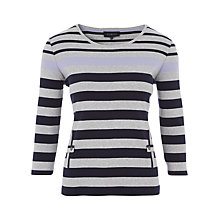 Buy Viyella Vertical Pocket Top, Dark Denim Online at johnlewis.com