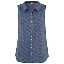 Buy White Stuff Brush Stroke Vest, Blue Suede Online at johnlewis.com