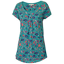 Buy Fat Face Sola Floral T-Shirt, Laurel Green Online at johnlewis.com