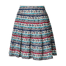 Buy Fat Face Pleat Floral Skirt, Ivory Online at johnlewis.com