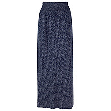 Buy Fat Face Petal Fan Maxi Skirt, Navy Online at johnlewis.com