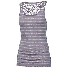 Buy Fat Face Lace Back Ditsy Stripe Vest, Ash Violet Online at johnlewis.com