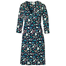 Buy Fat Face Peony Floral Wrap Dress, Navy Online at johnlewis.com