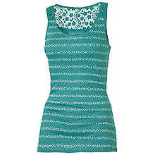 Buy Fat Face Lace Back Ditsy Stripe Vest Online at johnlewis.com