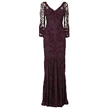Buy Phase Eight Issy Tapework Full Length Dress, Grape Online at johnlewis.com