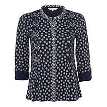 Buy White Stuff Easle Shirt, Dark Blue Velvet Online at johnlewis.com