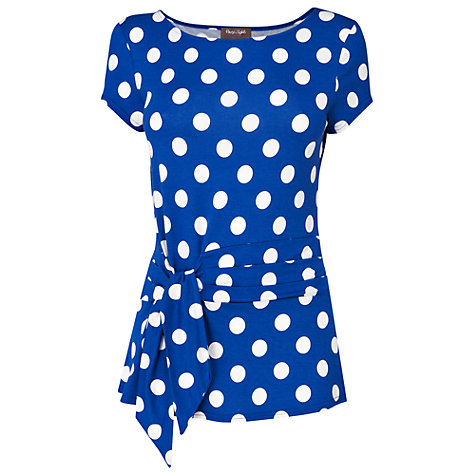Buy Phase Eight Philly Spot Top, Periwinkle/White Online at johnlewis.com