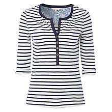 Buy White Stuff Stripe Afternoon Shirt, Dark Blue Velvet Online at johnlewis.com