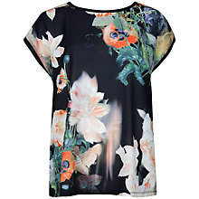 Buy Ted Baker Opulent Bloom T-Shirt, Black Online at johnlewis.com