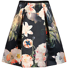 Buy Ted Baker Opulent Bloom Skirt, Black Online at johnlewis.com