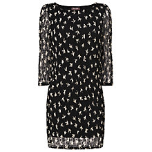 Buy Phase Eight Darcey Mesh Tunic Dress, Black/Ivory Online at johnlewis.com