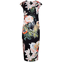 Buy Ted Baker Opulent Bloom Print Dress, Black Online at johnlewis.com