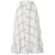 Buy Whistles Ellie Grid Print Pleated Skirt, Black/White Online at johnlewis.com