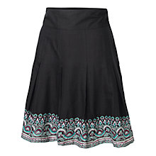 Buy Fat Face Pleat Border Skirt, Phantom Online at johnlewis.com