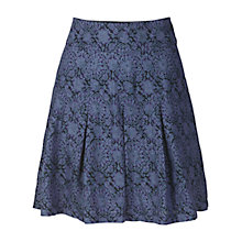 Buy Fat Face Pleat Batik Skirt, Navy Online at johnlewis.com