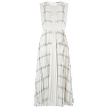 Buy Whistles Adrianna Grid Pleated Dress, Black/White Online at johnlewis.com