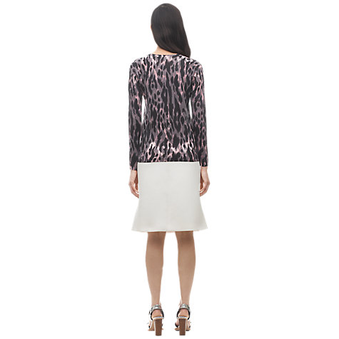Buy Whistles Tyler Animal Print Jumper, Pink Online at johnlewis.com