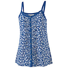 Buy Fat Face Glenda Ivy Floral Cami, Dark Chambray Online at johnlewis.com